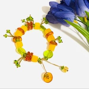Orna Lalo Shade of Lemon Amber Green bracelet